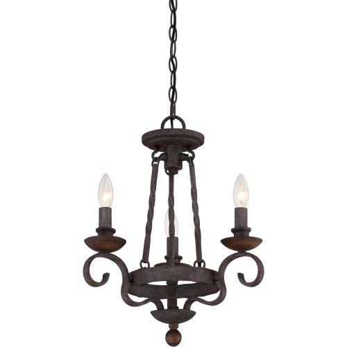 Quoizel Lighting NBE5303RK Noble Chandelier 3 Light  Steel