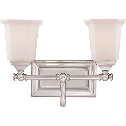 Quoizel Lighting NL8602BN Nicholas 2 Light Transitional Bath Vanity - 10 Inches high
