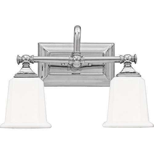 Quoizel Lighting NL8602 Nicholas 2 Light Transitional Bath Vanity - 10 Inches high