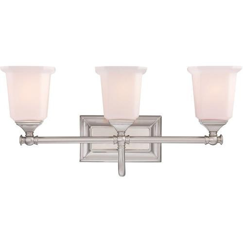 Quoizel Lighting NL8603BN Nicholas 3 Light Transitional Bath Vanity - 10 Inches high