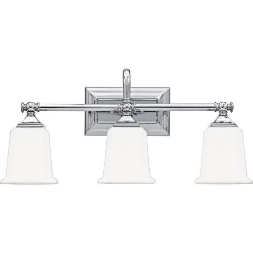 Quoizel Lighting NL8603 Nicholas 3 Light Transitional Bath Vanity - 10 Inches high