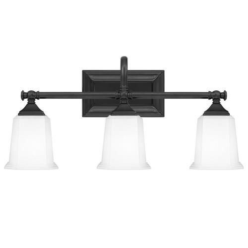 Quoizel Lighting NL8603EK Nicholas 3 Light Transitional Bath Vanity Approved for Damp Locations - 10 Inches high