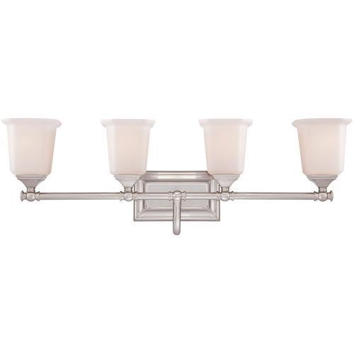 Quoizel Lighting NL8604BN Nicholas 4 Light Transitional Bath Vanity - 10 Inches high