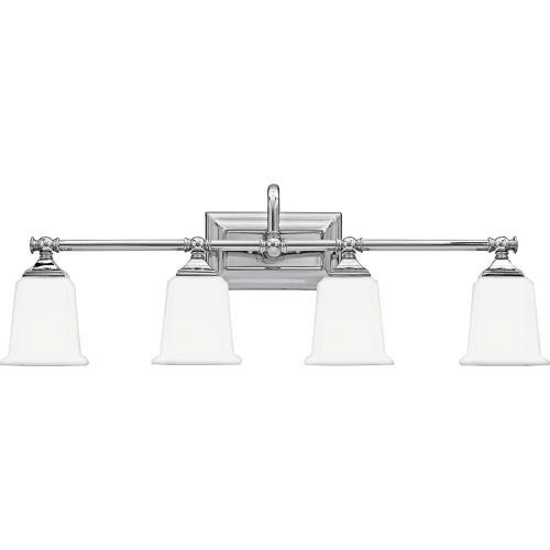Quoizel Lighting NL8604 Nicholas 4 Light Transitional Bath Vanity - 10 Inches high