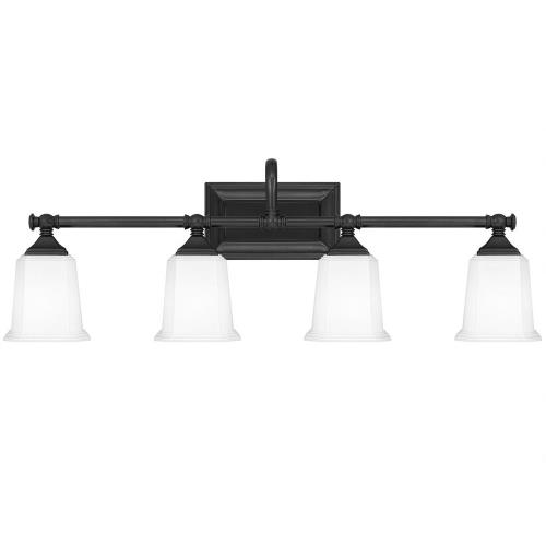 Quoizel Lighting NL8604EK Nicholas 4 Light Transitional Bath Vanity Approved for Damp Locations - 10 Inches high
