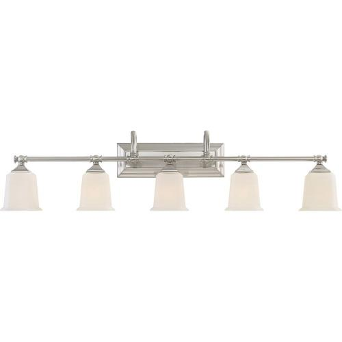 Quoizel Lighting NL8605 Nicholas 5 Light Transitional Bath Vanity Approved for Damp Locations - 10.75 Inches high