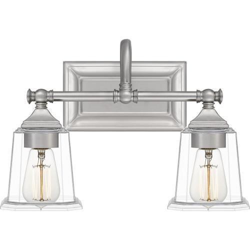 Quoizel Lighting NLC8602 Nicholas 2 Light Transitional Bath Vanity - 10 Inches high
