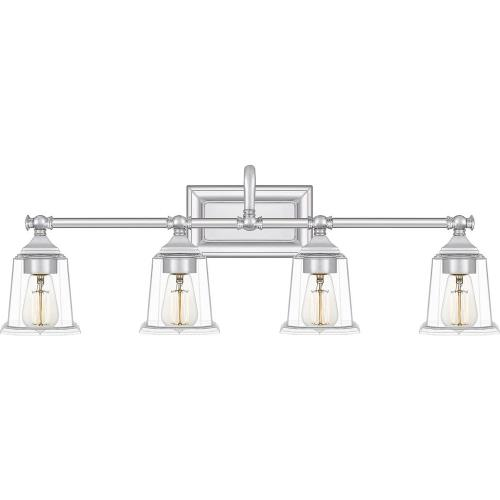 Quoizel Lighting NLC8604 Nicholas 4 Light Transitional Bath Vanity - 10 Inches high