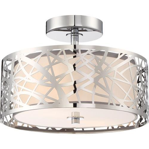 Quoizel Lighting PCAE1712C Platinum Abode - 2 Light Small Semi-Flush Mount - 8.5 Inches high