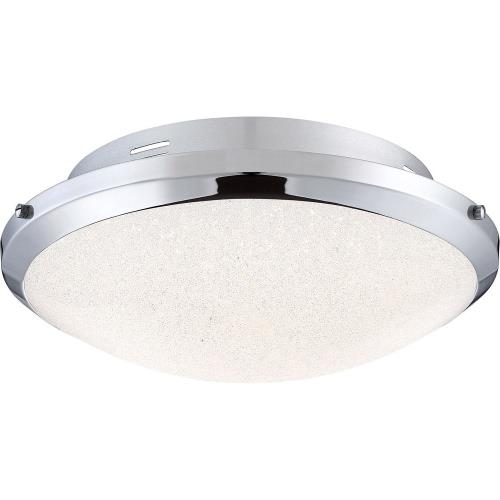 Quoizel Lighting PCGR1617C Glimmer - 17 Inch 22W 1 LED Flush Mount