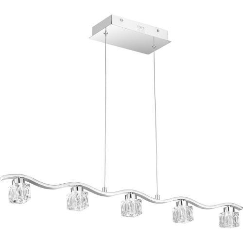 Quoizel Lighting PCHL636C Clear Hollow - 35.5 Inch 19W 6 LED Island