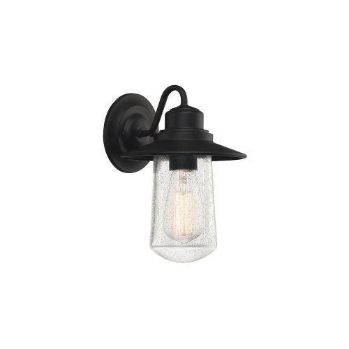 Quoizel Lighting RAD8407MBK Radford 10 Inch Outdoor Wall Lantern Transitional Steel