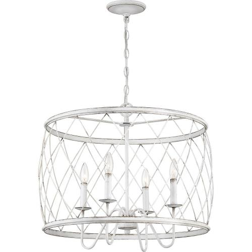 Quoizel Lighting RDY2823AWH Dury Pendant 4 Light - 20 Inches high