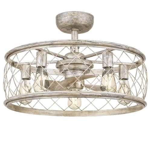 Quoizel Lighting RDY3122 Dury - 40W 5 LED Fandelier in Transitional style - 22 Inches wide by 9.75 Inches high