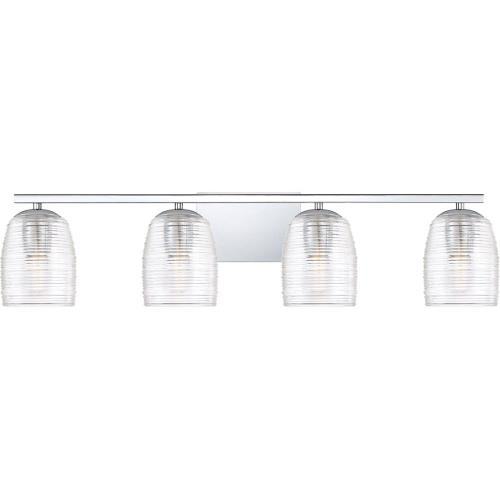 Quoizel Lighting RLM8604C Realm 4 Light Transitional Bath Vanity Approved for Damp Locations - 7.5 Inches high