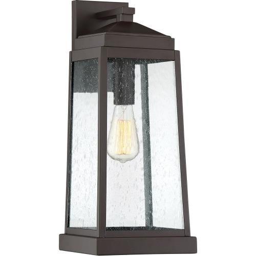 Quoizel Lighting RNL8408WT Ravenel 19 Inch Outdoor Wall Lantern Transitional Steel Approved for Wet Locations