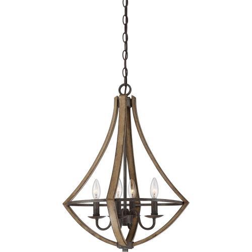 Quoizel Lighting SHR2818RK Shire DInette Chandelier 4 Light  Steel - 24 Inches high