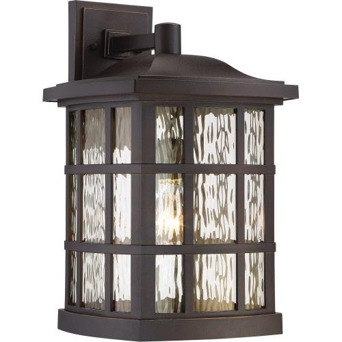 Quoizel Lighting SNN8411 Stonington 17 Inch Large Outdoor Wall Lantern Transitional Plastic/Coastal Armour - 17 Inches high