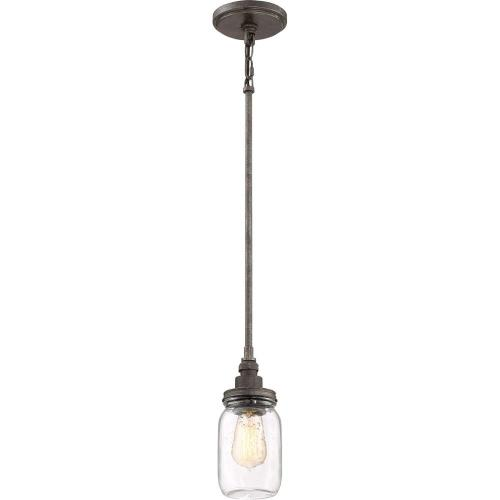 Quoizel Lighting SQR1504RK Squire Mini Chandelier 1 Light  Steel