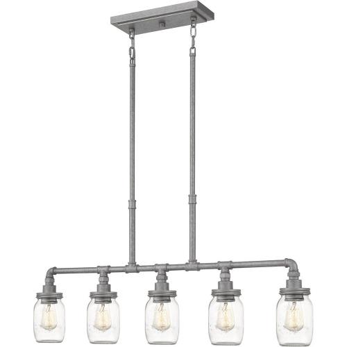 Quoizel Lighting SQR538GV Squire Linear Chandelier 5 Light  Steel