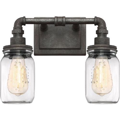 Quoizel Lighting SQR8602RK Squire 2 Light Transitional Medium Bath Vanity - 11 Inches high