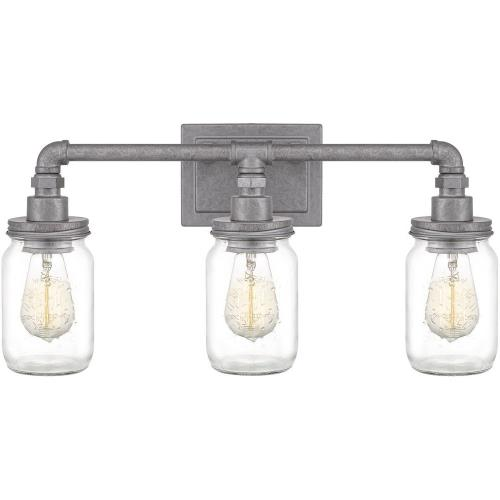 Quoizel Lighting SQR8603GV Squire 3 Light Transitional Bath Vanity - 11 Inches high