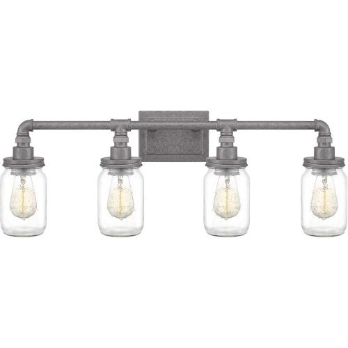 Quoizel Lighting SQR8604GV Squire 4 Light Transitional Bath Vanity