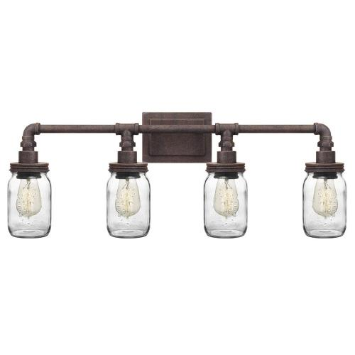 Quoizel Lighting SQR8604RK Squire 4 Light Transitional Bath Vanity