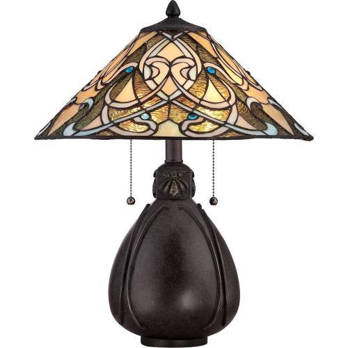 Quoizel Lighting TF1846TIB Tiffany - 19.5 Inch 2 Light Table Lamp