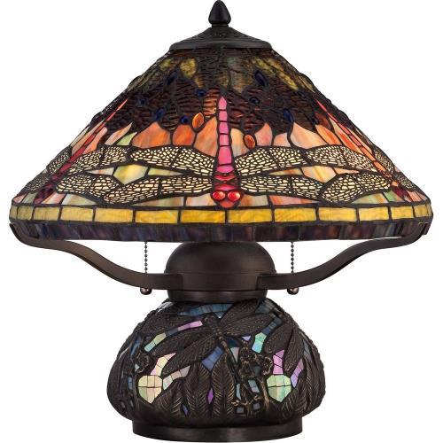 Quoizel Lighting TF1851TIB Tiffany - 16.5 Inch 2 Light Table Lamp