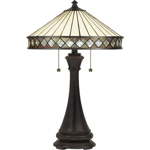 Quoizel Lighting TF5210TVB Bowing - 2 Light Table Lamp - 24 Inches high