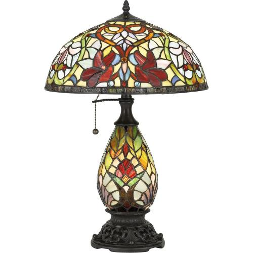 Quoizel Lighting TF5214TVB Channing - 2 Light Table Lamp - 24 Inches high