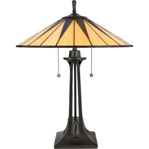 Quoizel Lighting TF6668VB Gotham - 2 Light Table Lamp