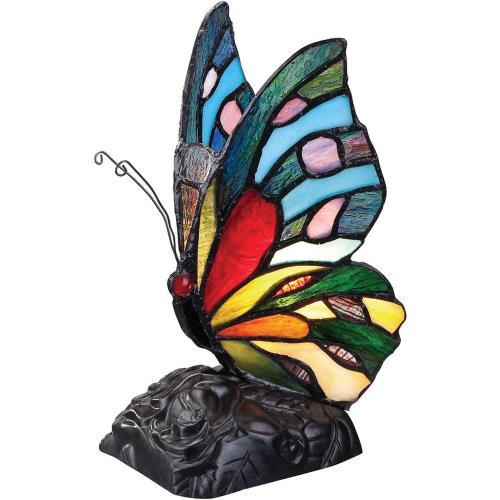 Quoizel Lighting TFX1518T Rainbow Butterfly - 1 Light Desk Lamp