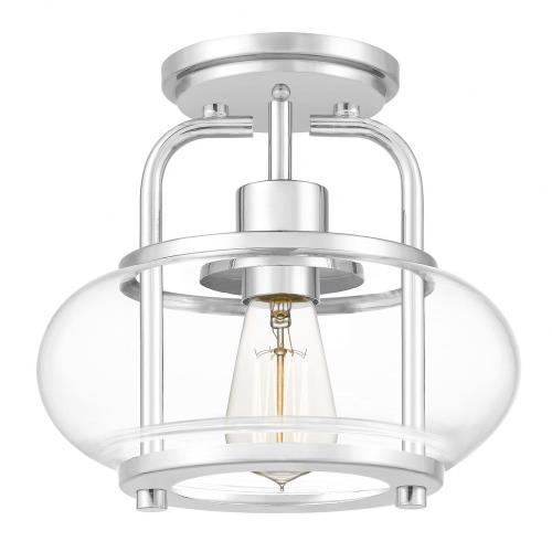 Quoizel Lighting TRG1710C Trilogy - 1 Light Semi-Flush Mount