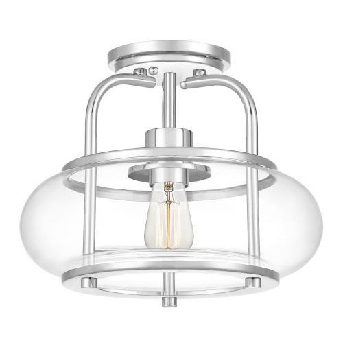 Quoizel Lighting TRG1712C Trilogy - 1 Light Semi-Flush Mount - 10 Inches high