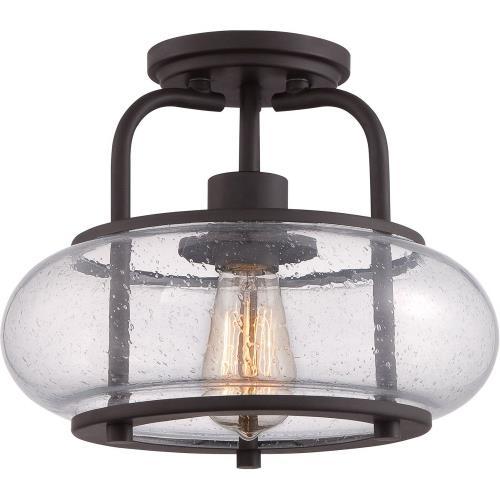 Quoizel Lighting TRG1712OZ Trilogy - 1 Light Semi-Flush Mount - 10 Inches high
