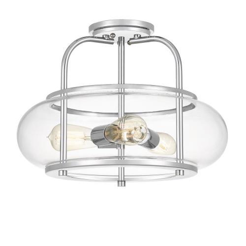 Quoizel Lighting TRG1716C Trilogy - 3 Light Semi-Flush Mount - 12 Inches high
