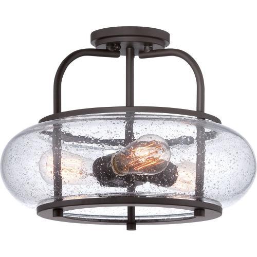 Quoizel Lighting TRG1716OZ Trilogy - 3 Light Semi-Flush MountFlush Mount - 12 Inches high