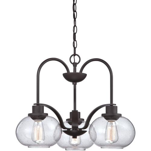Quoizel Lighting TRG5103OZ Trilogy Chandelier 3 Light Steel - 16.5 Inches high