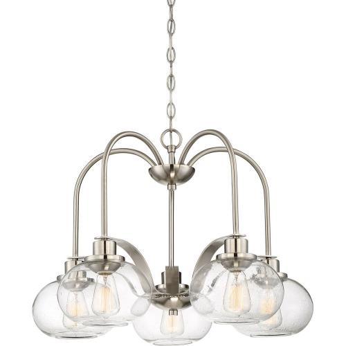 Quoizel Lighting TRG5105BN Trilogy DInette Chandelier 5 Light Steel - 19 Inches high