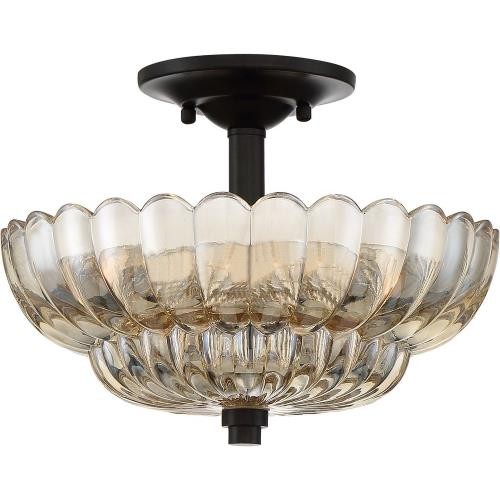 Quoizel Lighting WHP1712MC Whitecap - 3 Light Medium Semi-Flush Mount