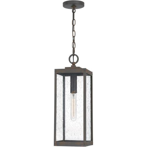 Quoizel Lighting WVR1907IZ Westover - 1 Light Large Outdoor Hanging Lantern in Transitional style - 7 Inches wide by 20.75 Inches high
