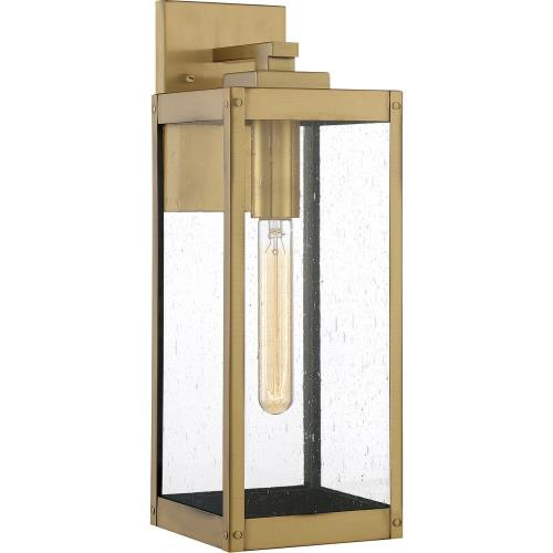 Quoizel Lighting WVR8406A Westover 17 Inch Outdoor Wall Lantern Transitional Brass Approved for Wet Locations