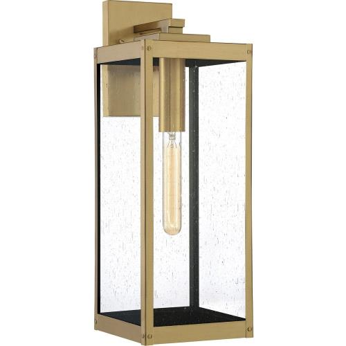 Quoizel Lighting WVR8407A Westover 20 Inch Outdoor Wall Lantern Transitional Brass Approved for Wet Locations
