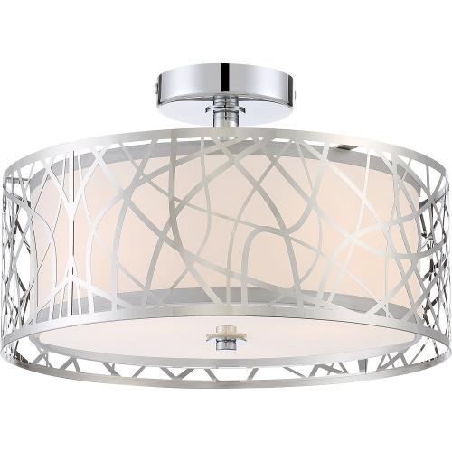 Quoizel Lighting PCAE1715C Platinum Abode - 3 Light Medium Semi-Flush Mount - 9.5 Inches high