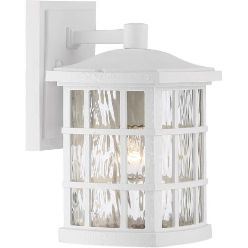 Quoizel Lighting SNN8406W Stonington 10.5 Inch Small Outdoor Wall Lantern Transitional Plastic - 10.5 Inches high