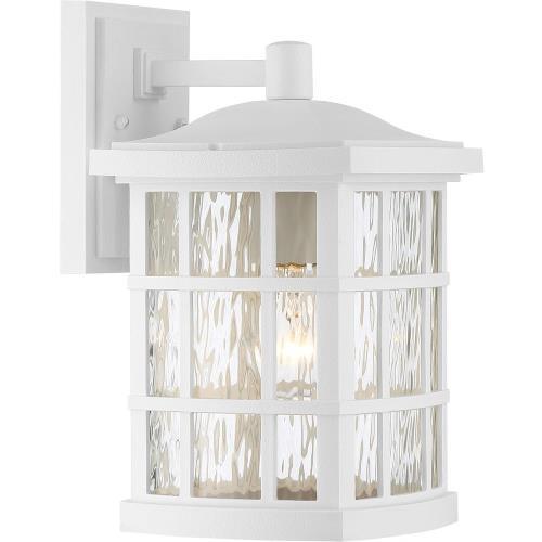 Quoizel Lighting SNN8408W Stonington 13 Inch Medium Outdoor Wall Lantern Transitional Plastic - 13 Inches high