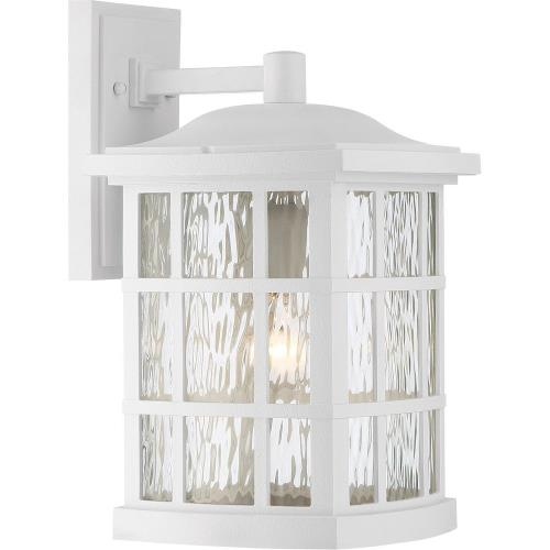 Quoizel Lighting SNN8409W Stonington 15.5 Inch Large Outdoor Wall Lantern Transitional Plastic - 15.5 Inches high