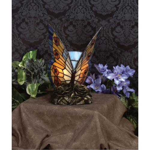 Quoizel Lighting TF6599R Orange Butterfly - 1 Light Tiffany Accent